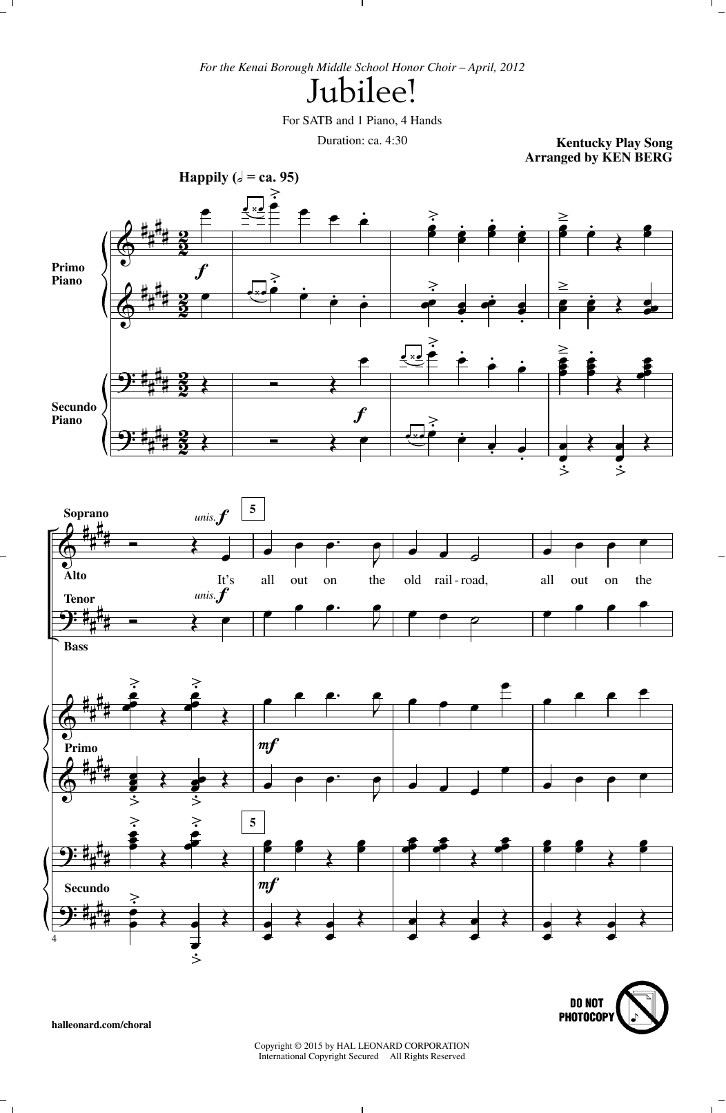 Jubilee! (arr. Ken Berg) Sheet Music