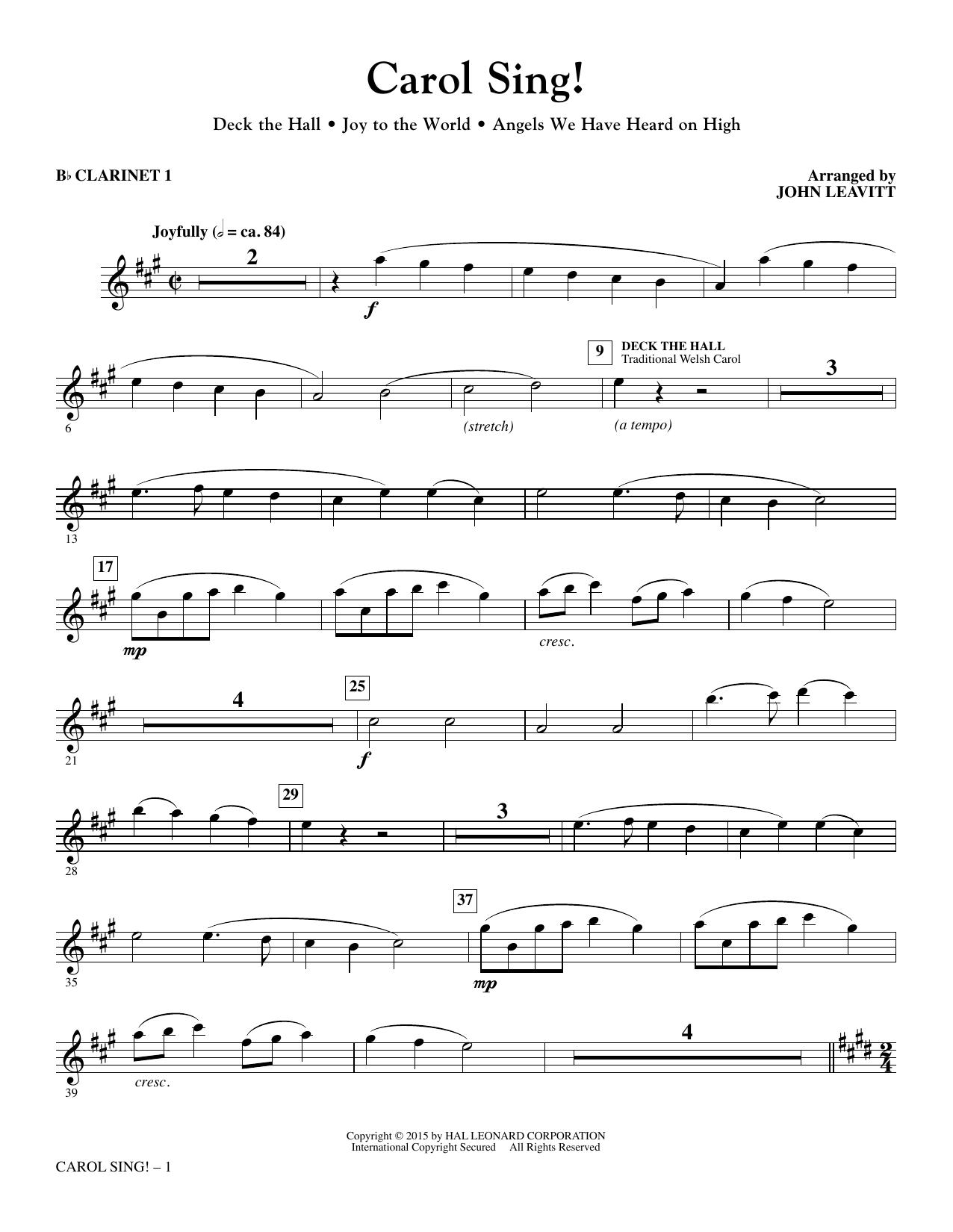 Carol Sing! - Bb Clarinet 1 (Choir Instrumental Pak)