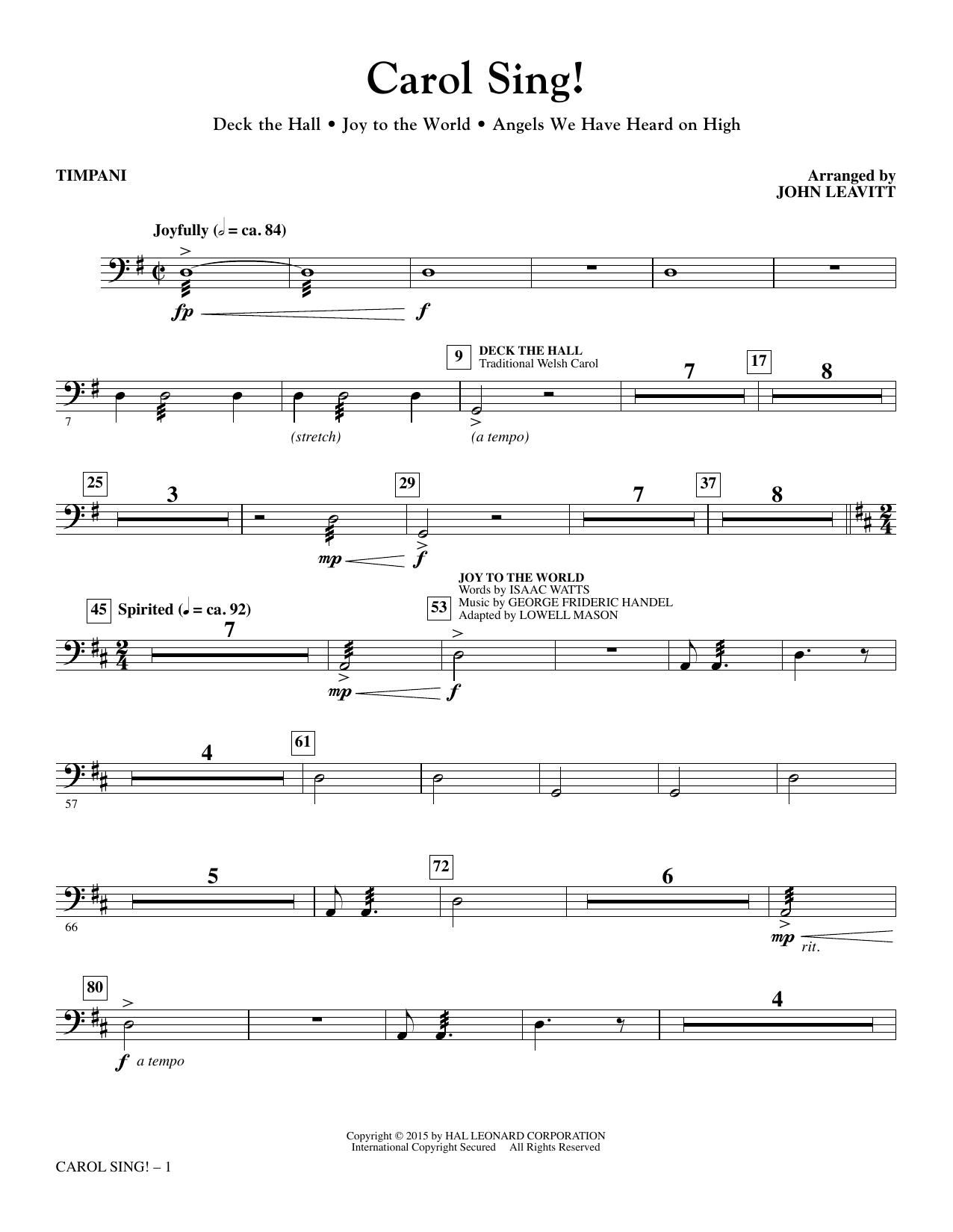 Carol Sing! - Timpani (Choir Instrumental Pak)