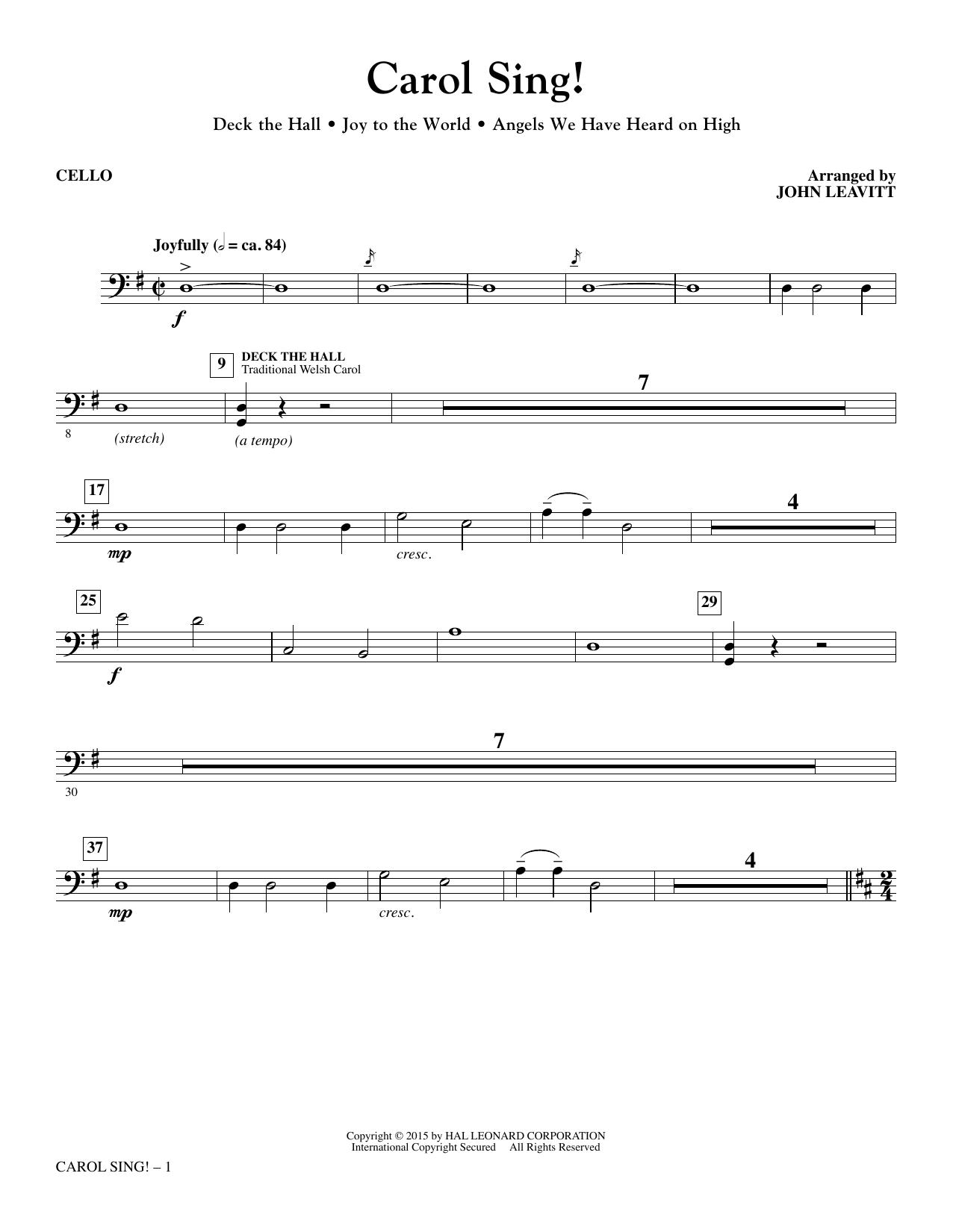 Carol Sing! - Cello Sheet Music