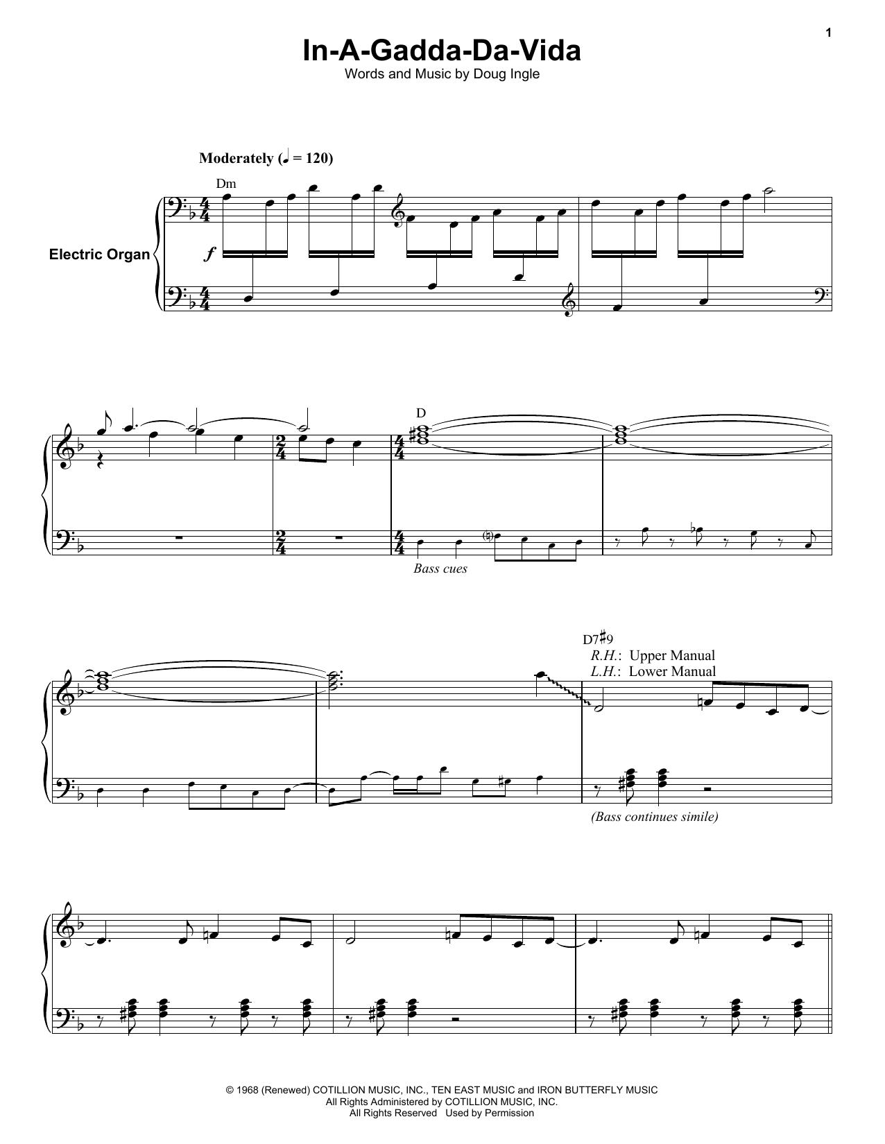 In-A-Gadda-Da-Vida (Keyboard Transcription)