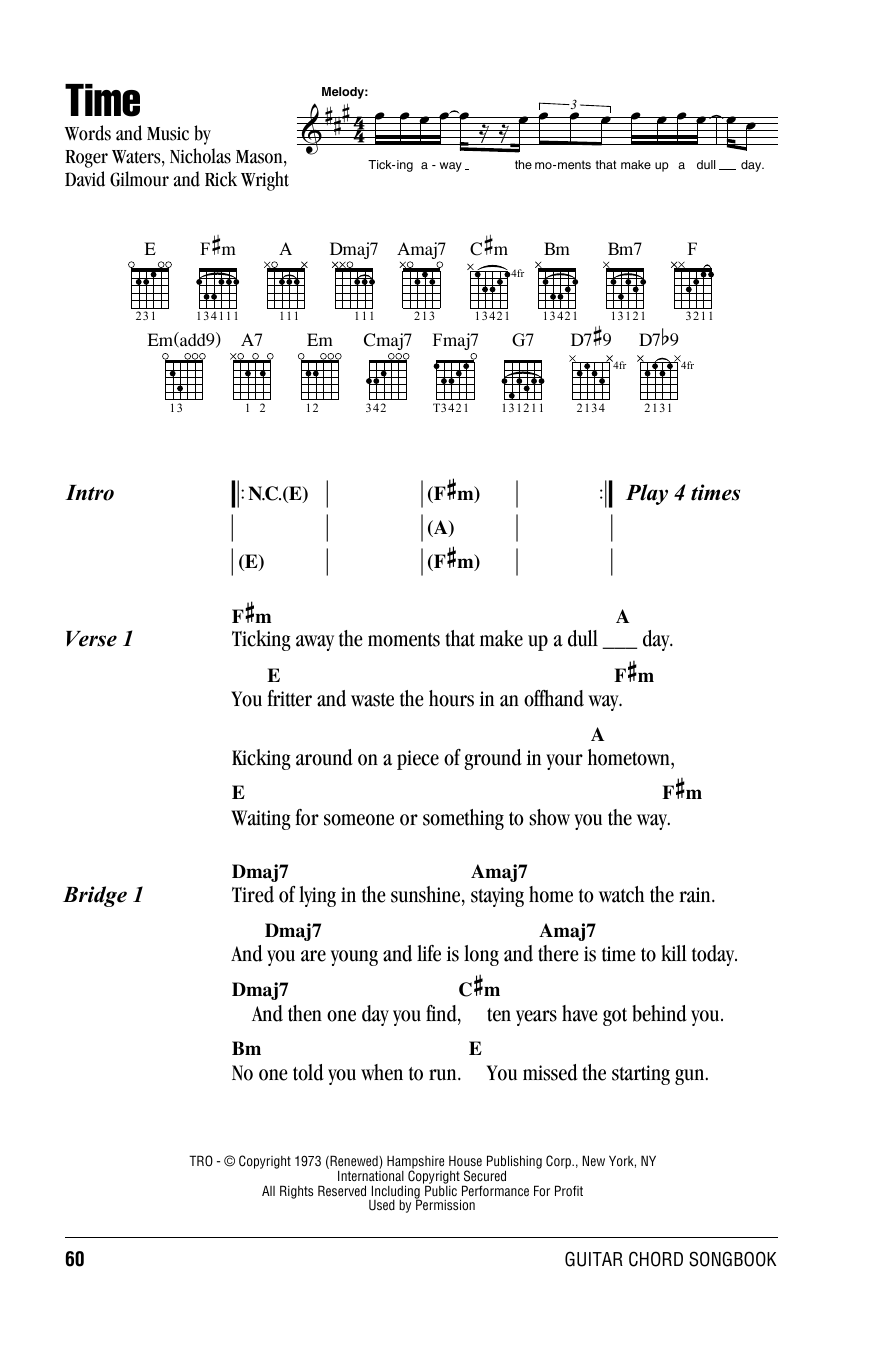 The Unforgiven Metallica Chords and Lyrics for Guitar
