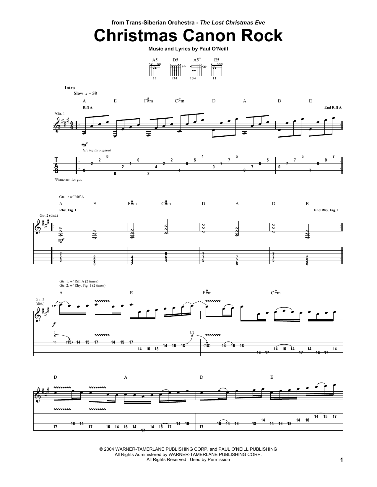 Christmas Canon Rock | Sheet Music Direct