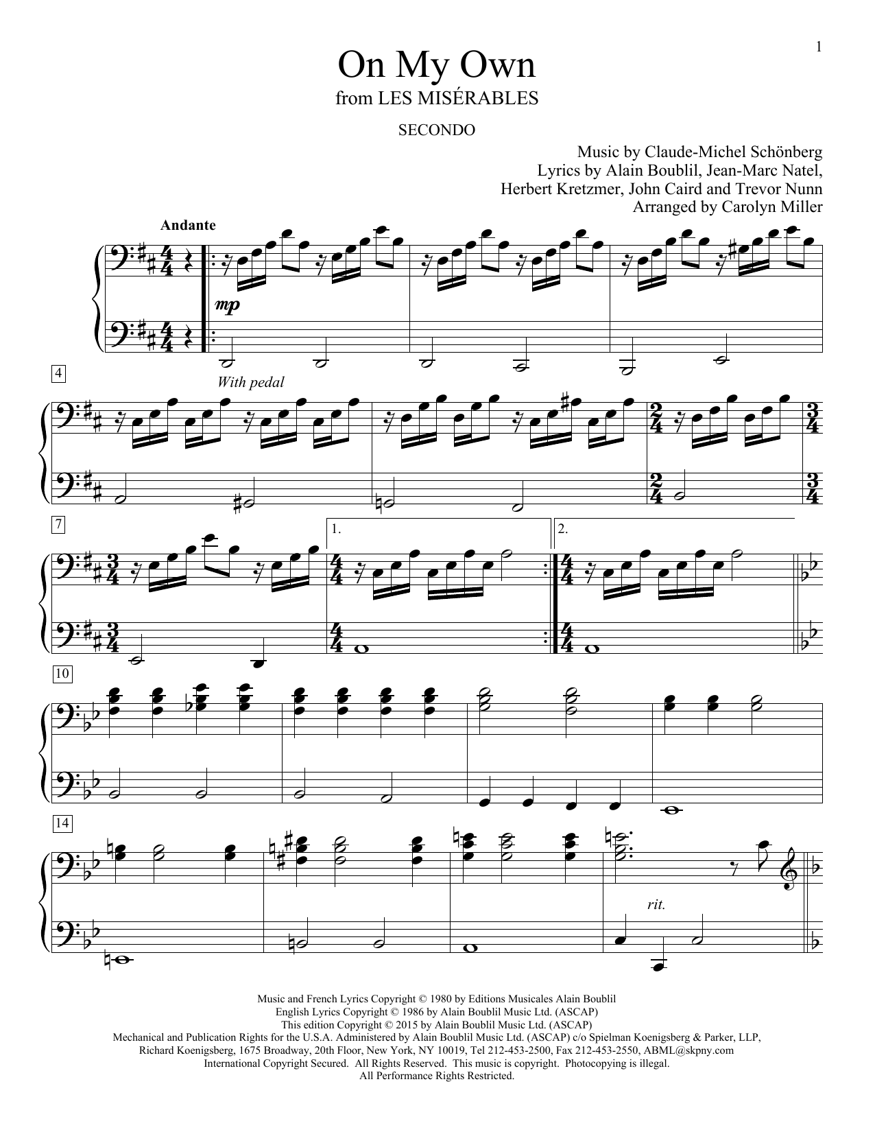 Easy Broadway Duets - Later Elementary to Early Intermediate Level - 1 Piano, 4 Hands by Various