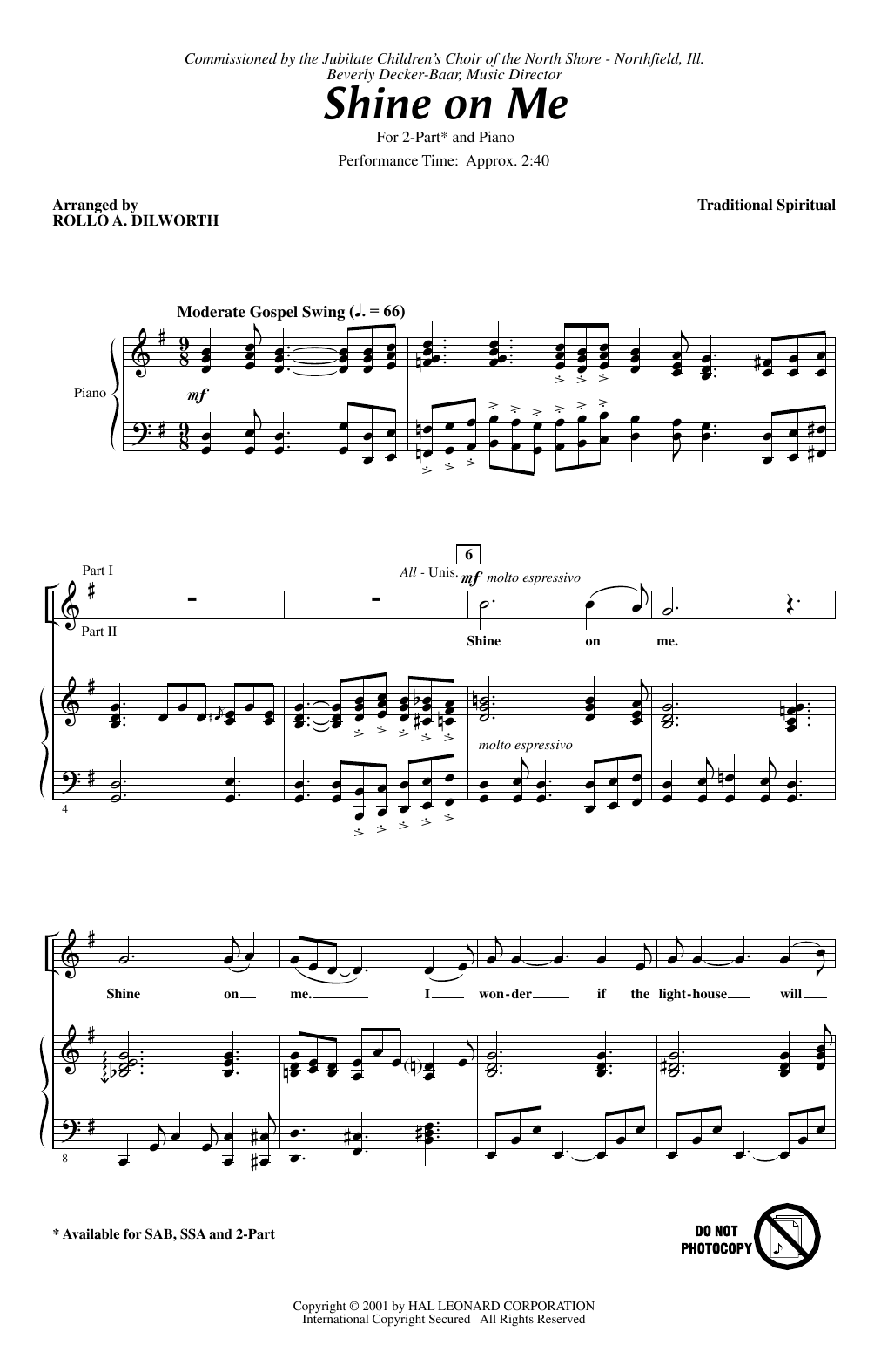 Shine On Me Sheet Music