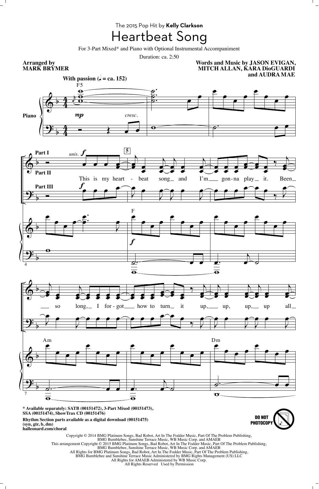 Heartbeat Song (arr. Mark Brymer) Sheet Music