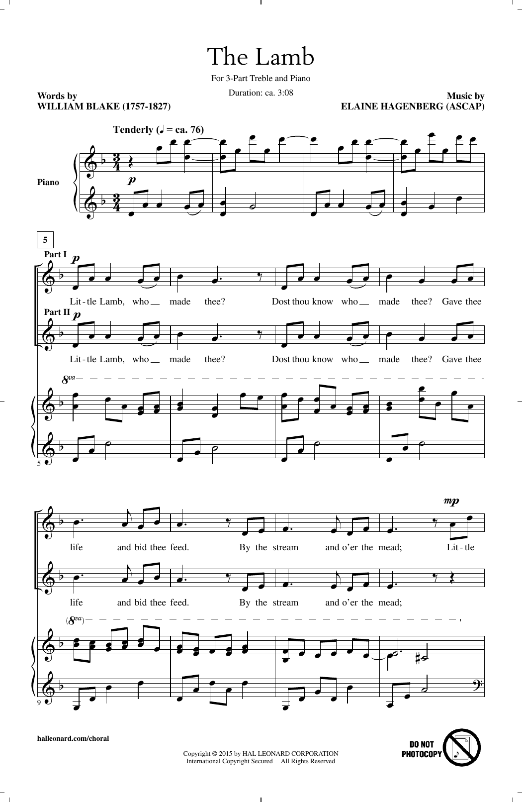The Lamb Sheet Music