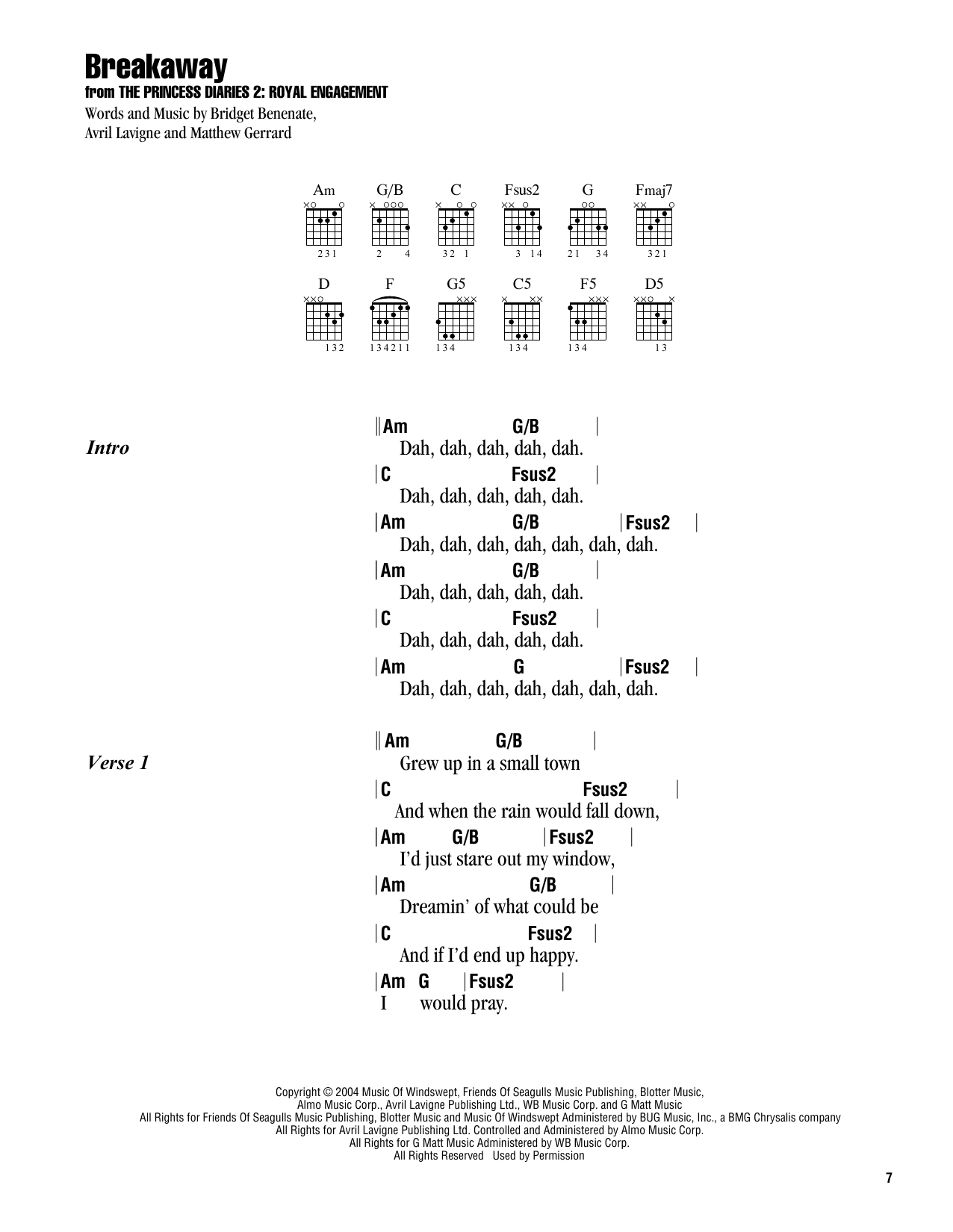 BREAKAWAY Chords - Kelly Clarkson | E-Chords