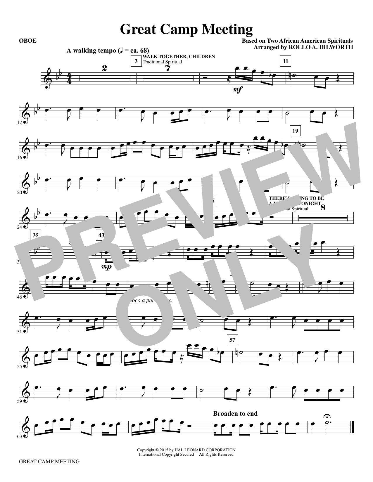 Great Camp Meeting - Oboe Sheet Music