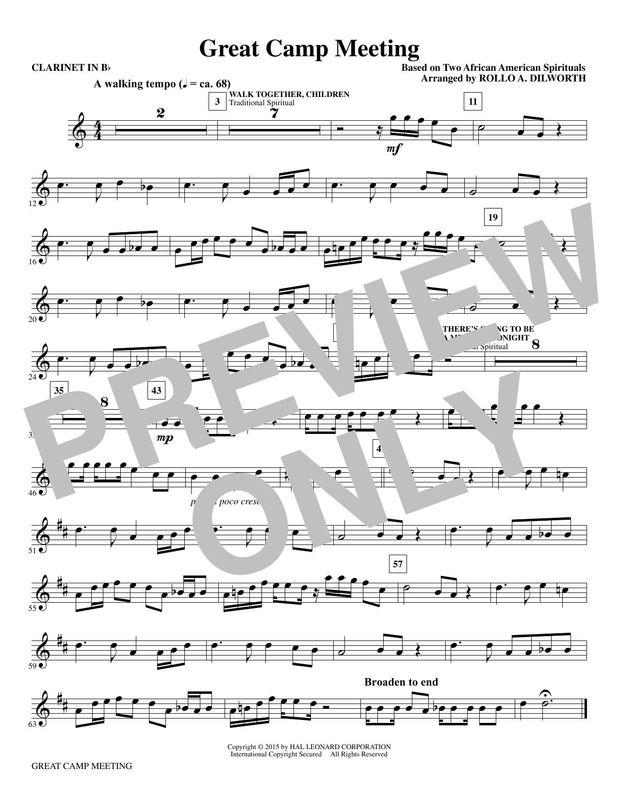 Great Camp Meeting - Bb Clarinet Sheet Music