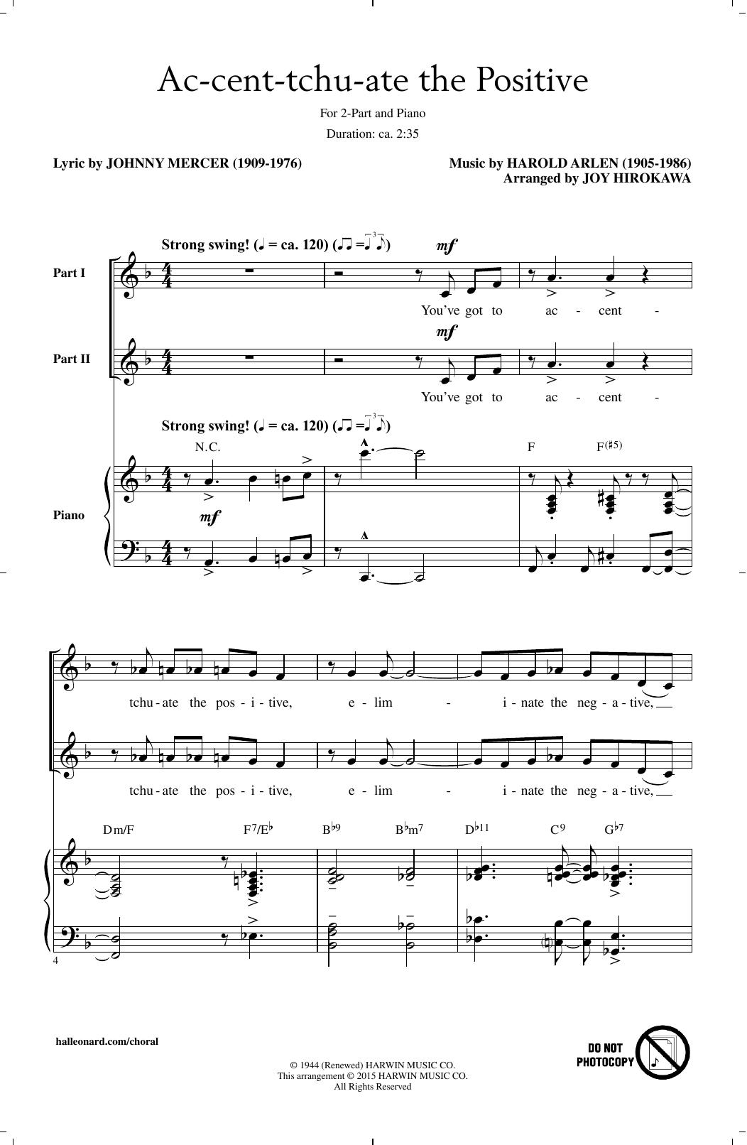 Ac-cent-tchu-ate The Positive (arr. Joy Hirokawa) Sheet Music