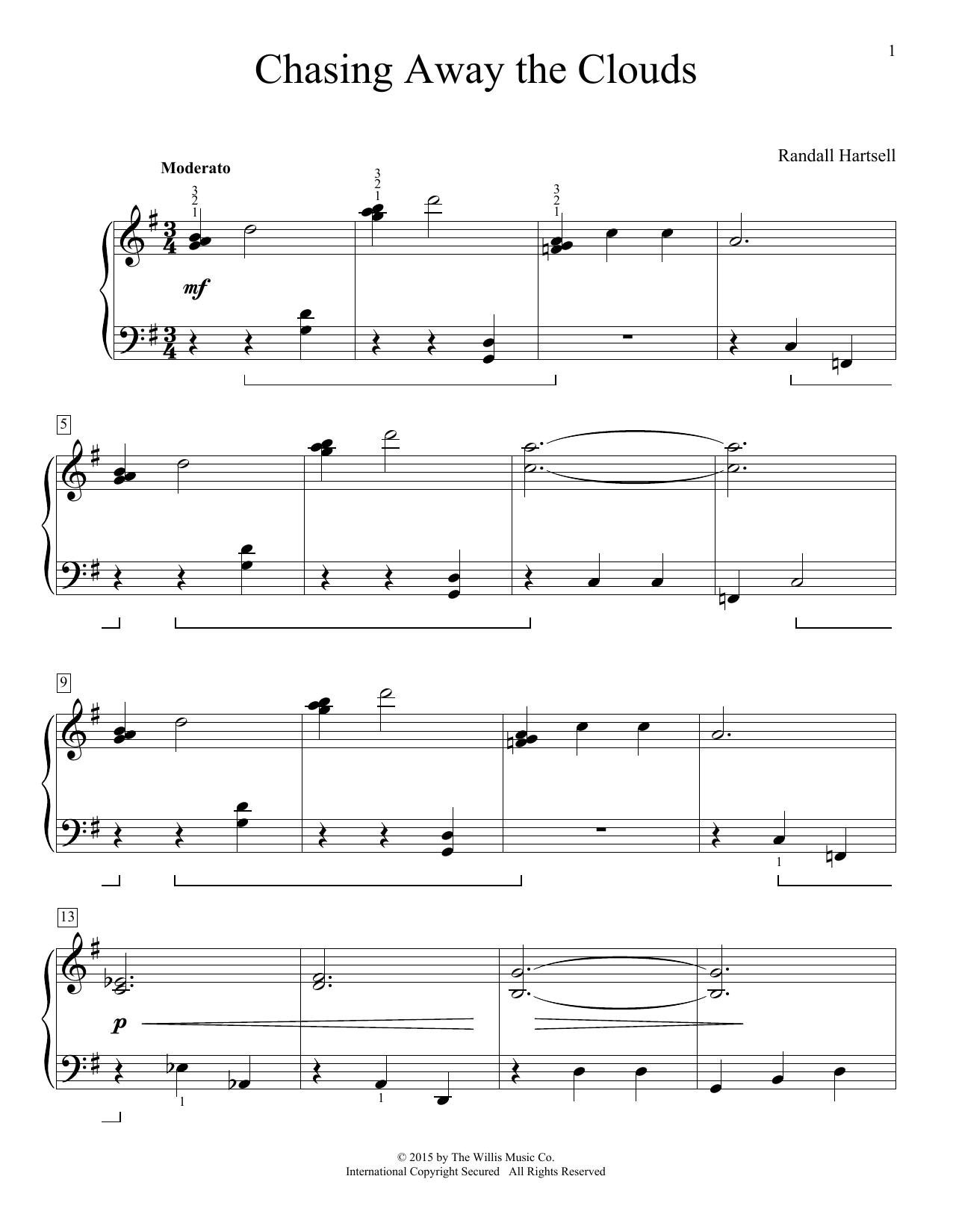 Chasing Away The Clouds Sheet Music