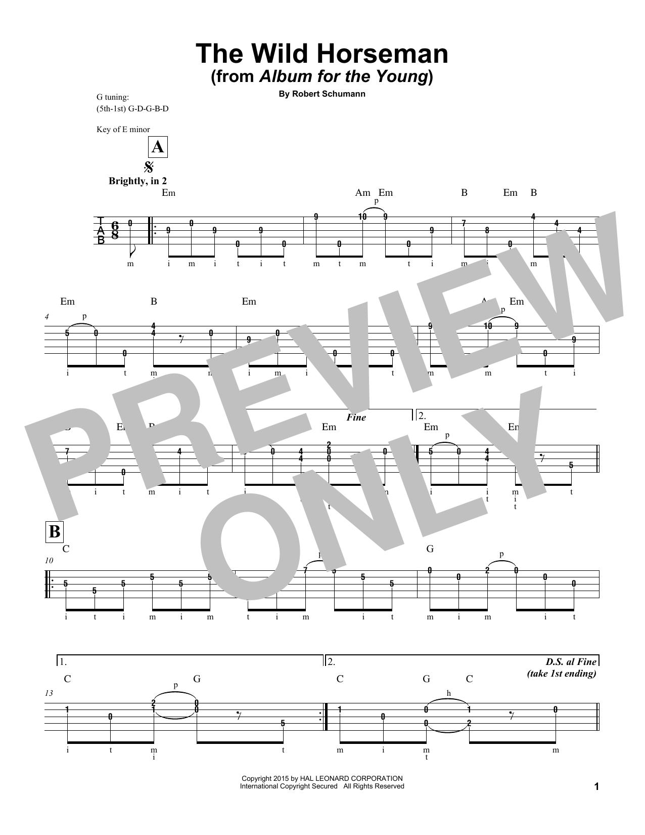 The Wild Horseman, Op. 68, No. 8 Partition Digitale