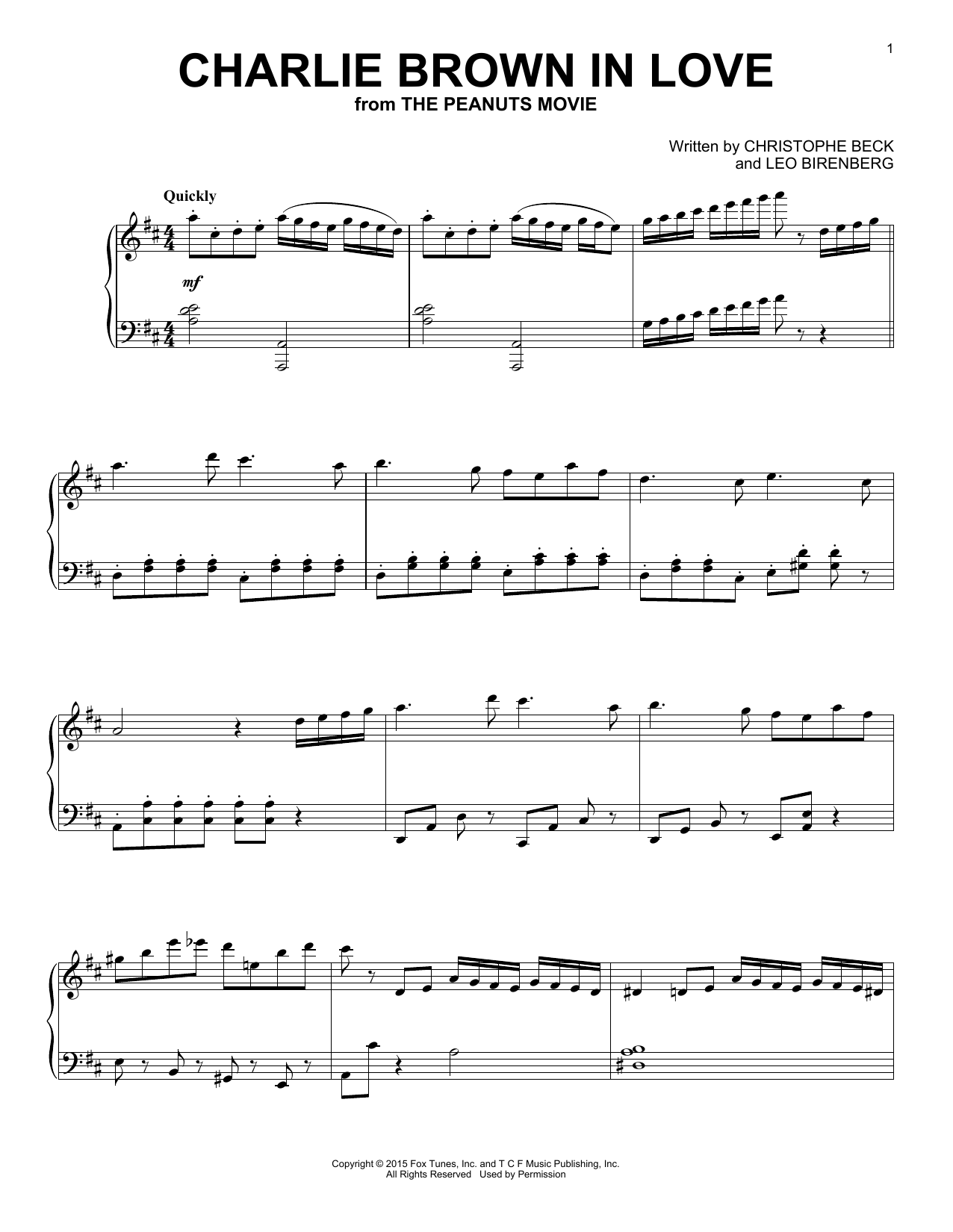 Charlie Brown In Love Sheet Music