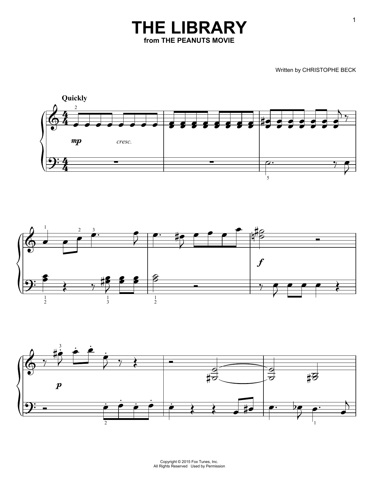The Library Sheet Music