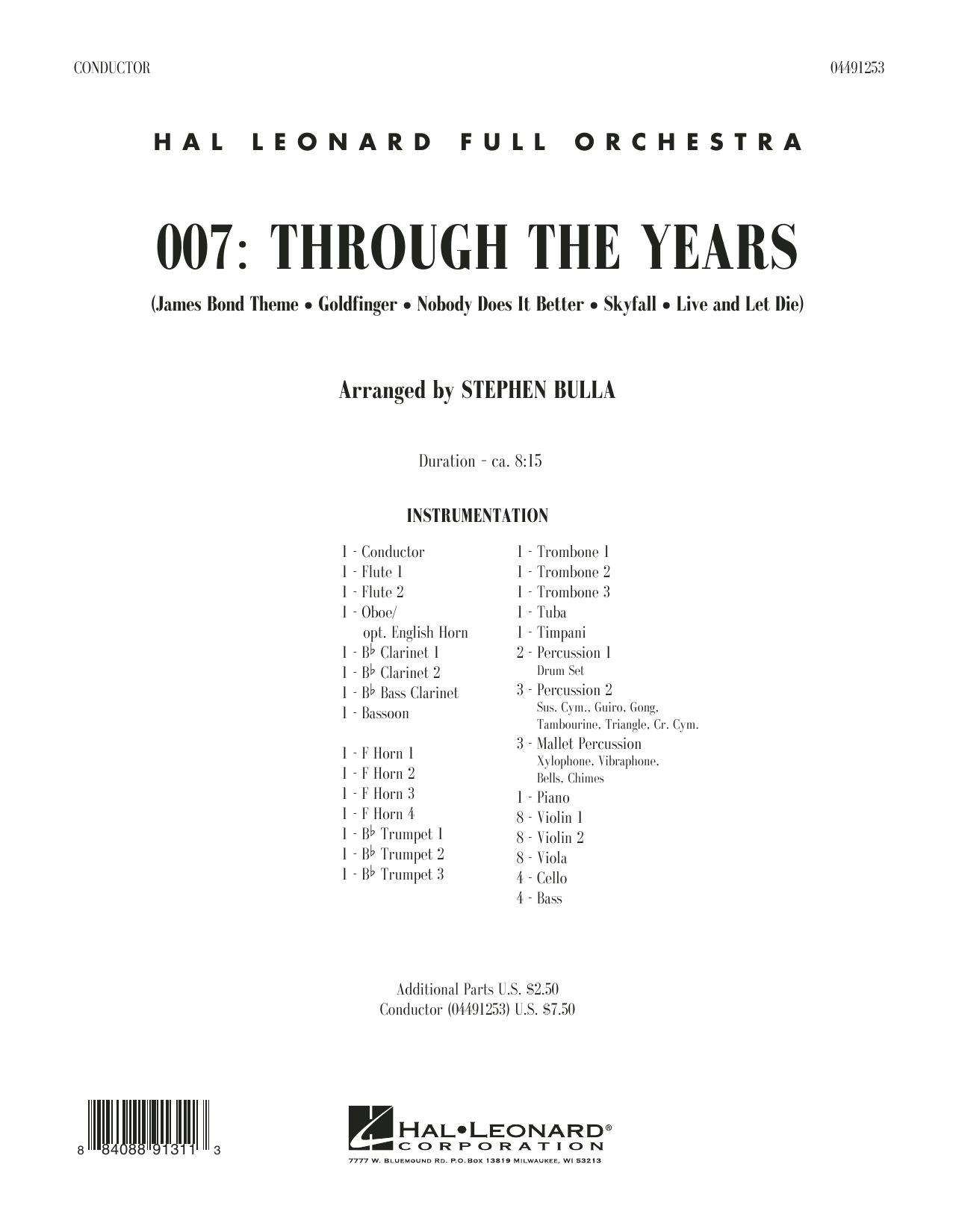 007: Through The Years - Conductor Score (Full Score) (Orchestra)