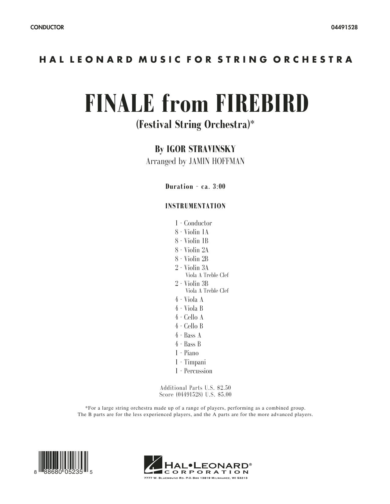 Finale from Firebird (arr. Jamin Hoffman) - Conductor Score (Full Score) (Orchestra)