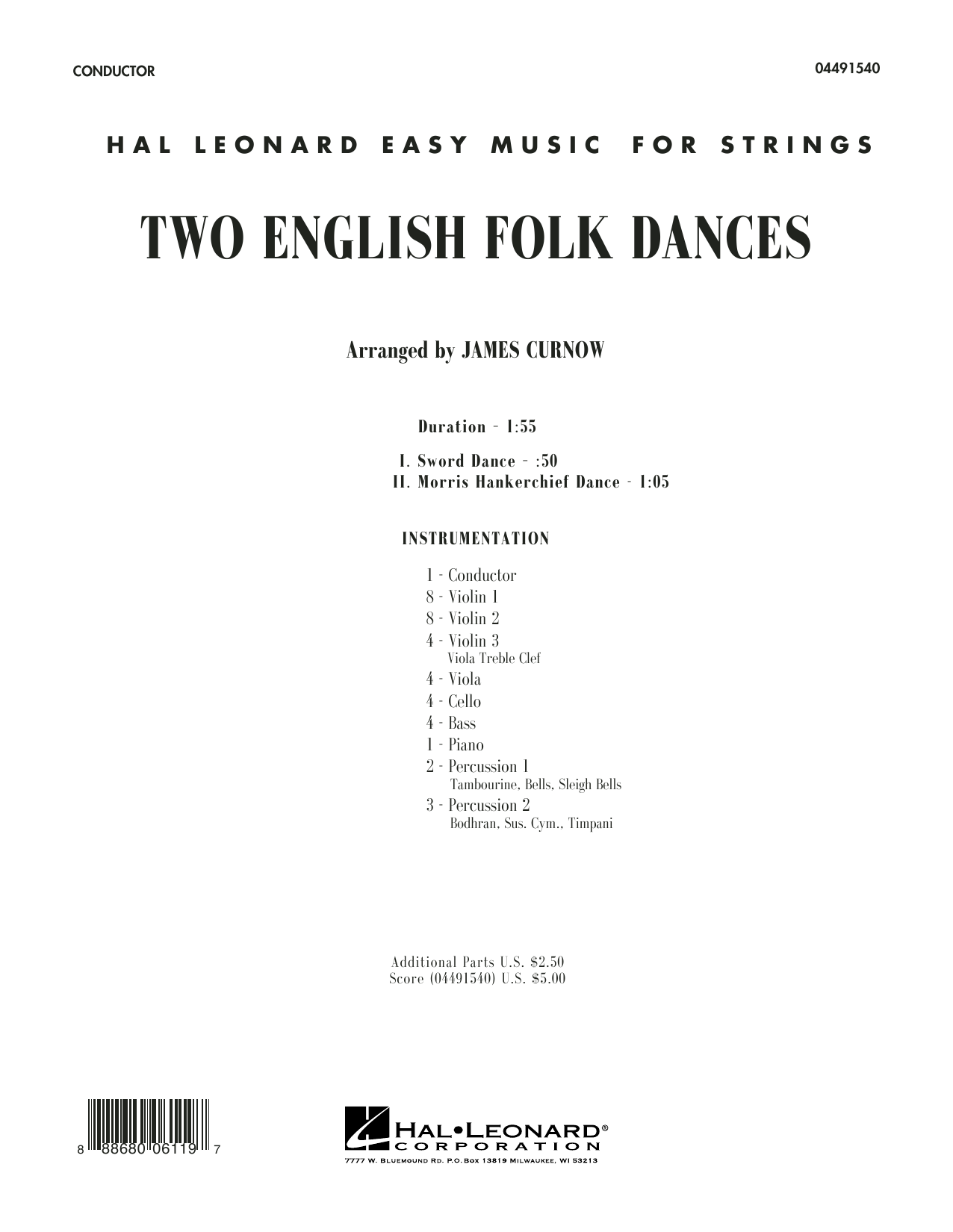 Two English Folk Dances (COMPLETE) sheet music for orchestra by James Curnow. Score Image Preview.