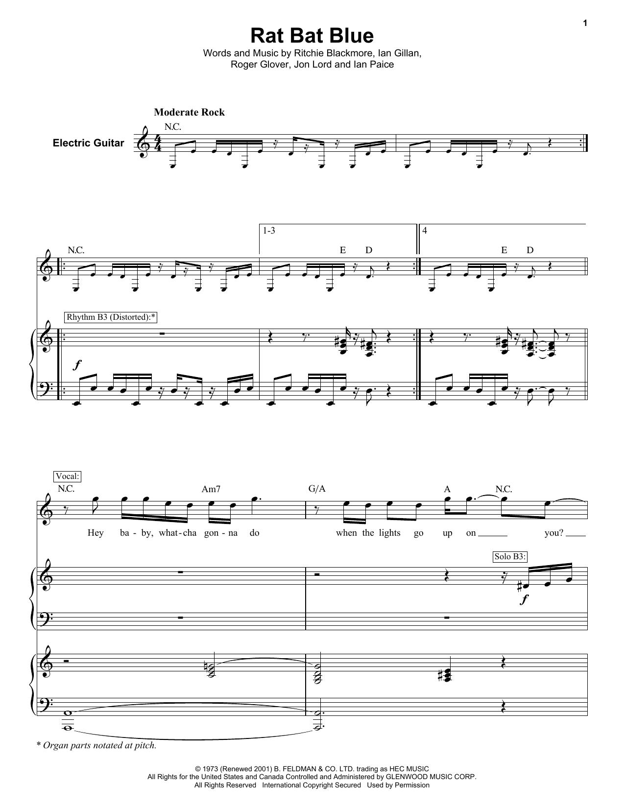 Rat Bat Blue (Keyboard Transcription)