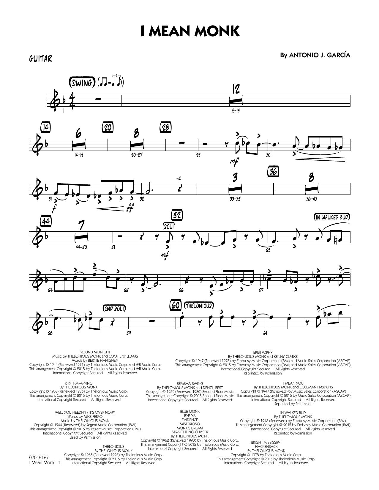 I Mean Monk - Guitar (Jazz Ensemble)
