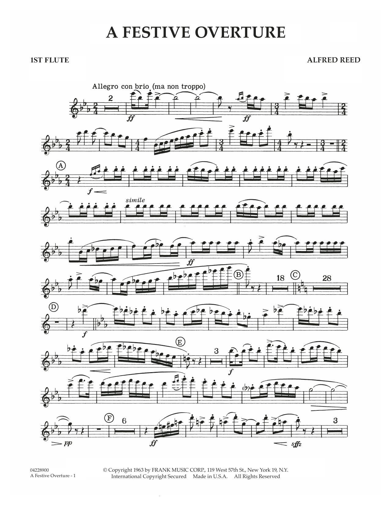 A Festive Overture - 1st Flute (Concert Band)