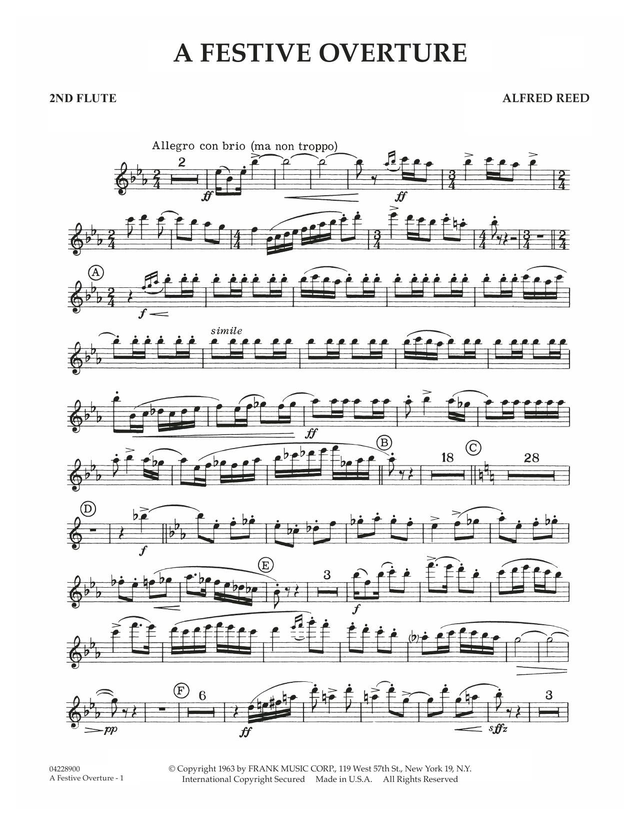 A Festive Overture - 2nd Flute (Concert Band)