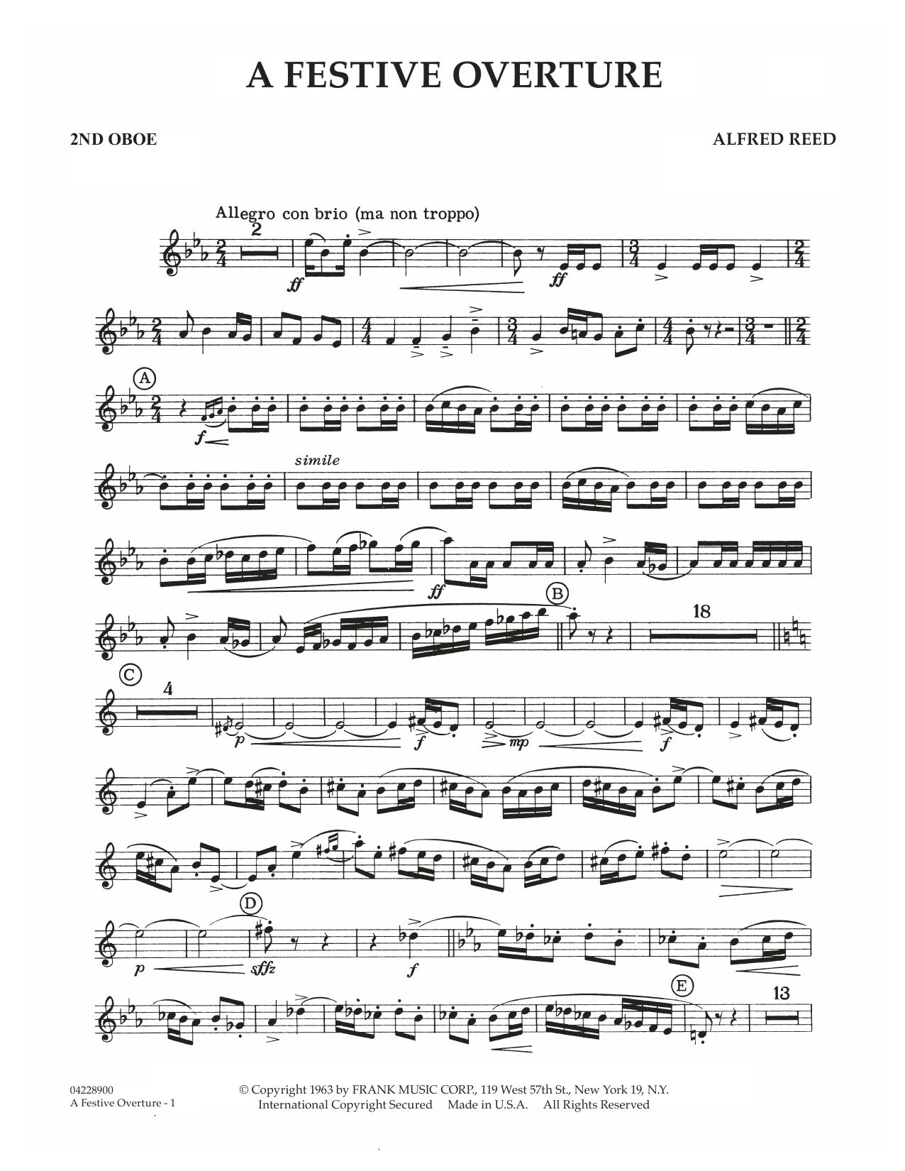 A Festive Overture - 2nd Oboe (Concert Band)