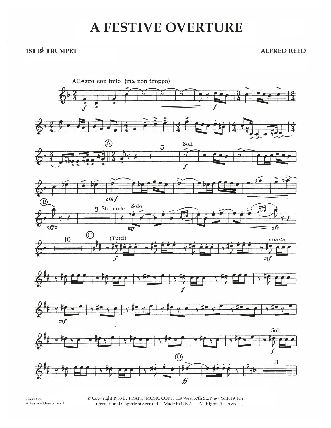 A Festive Overture - 1st Bb Trumpet (Concert Band)