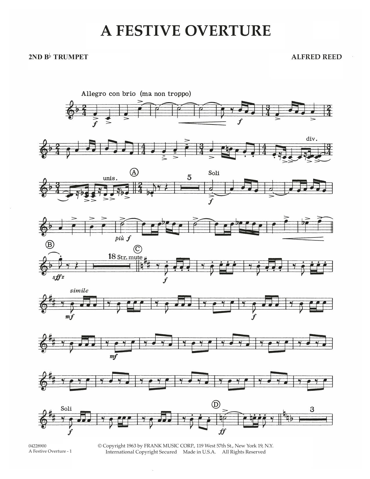 A Festive Overture - 2nd Bb Trumpet (Concert Band)