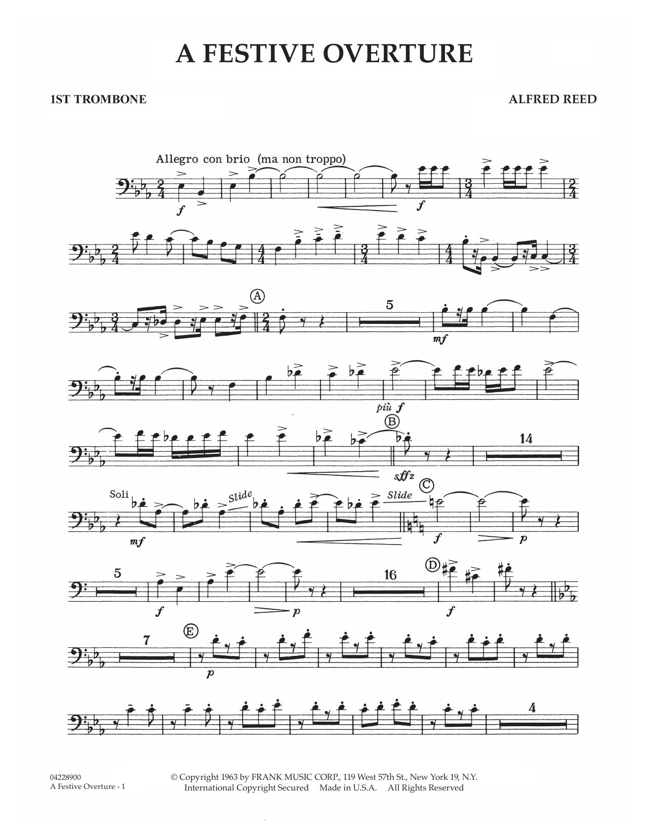 A Festive Overture - 1st Trombone (Concert Band)