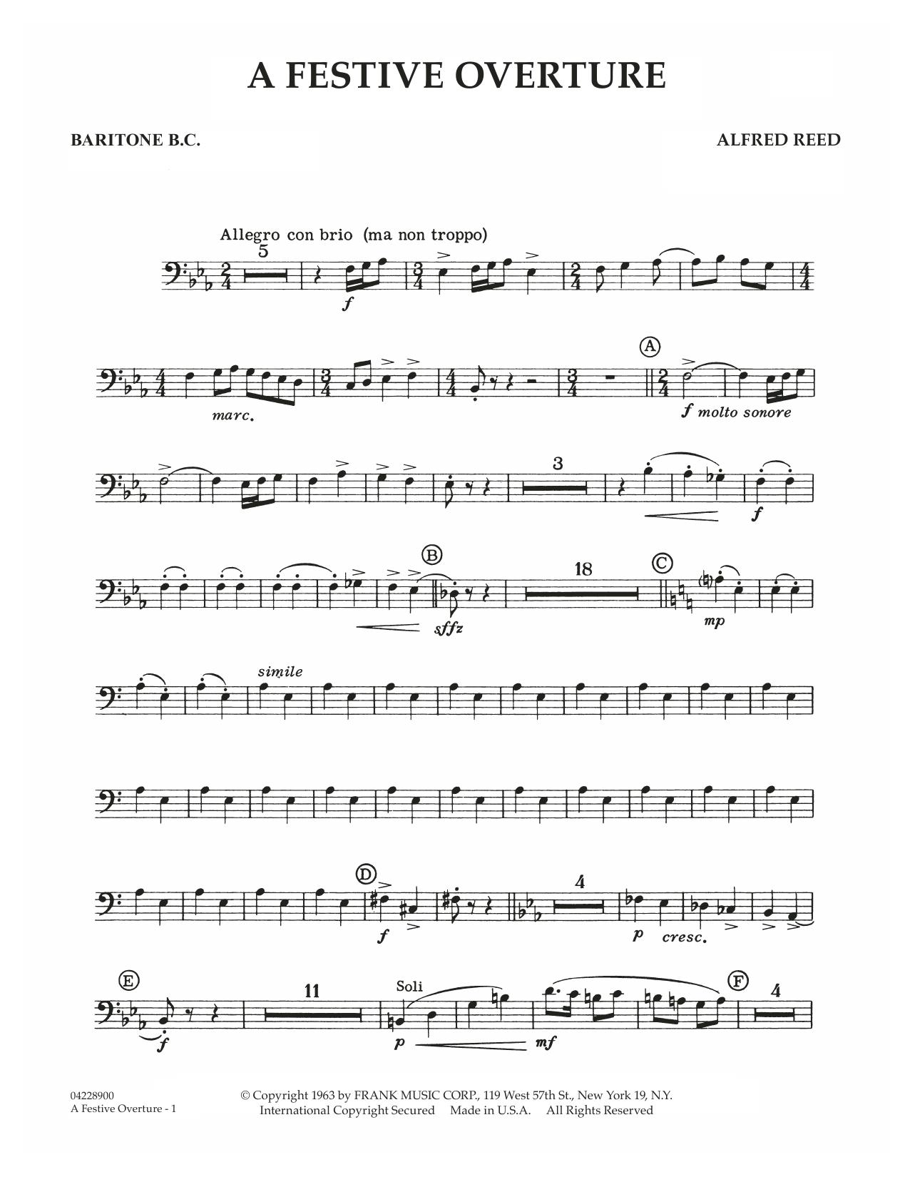 A Festive Overture - Baritone T.C. (Concert Band)