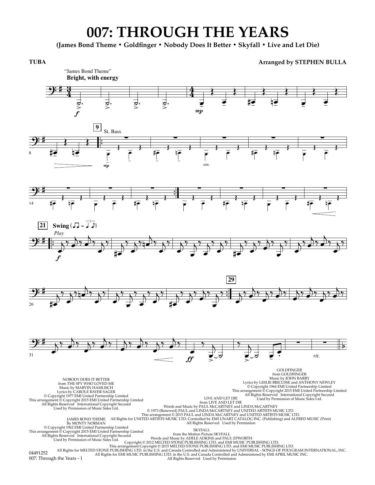 007: Through The Years - Tuba (Orchestra)