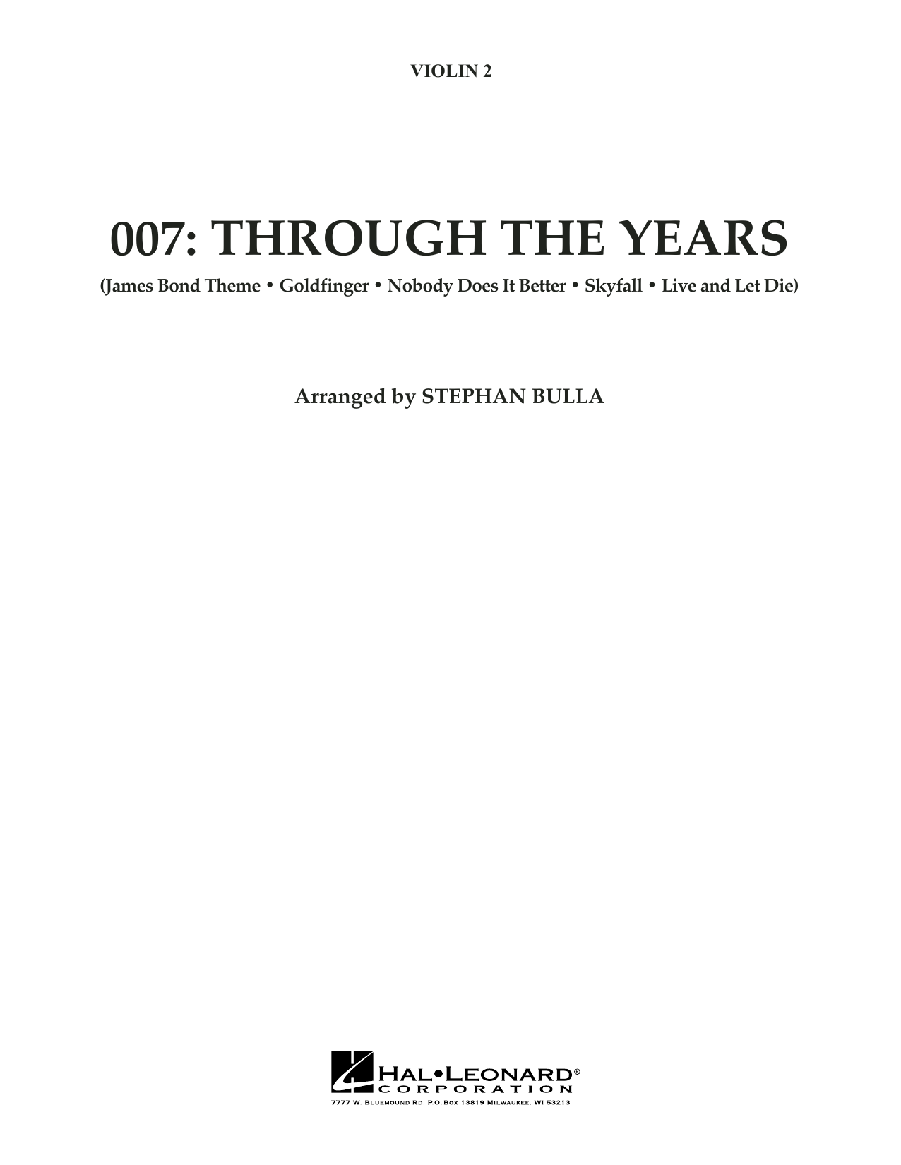 007: Through The Years - Violin 2 (Orchestra)