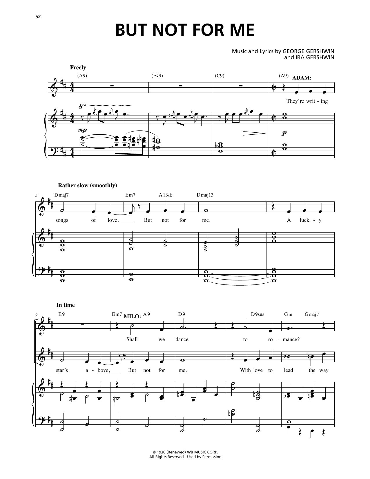 But Not For Me (from An American In Paris) (Piano & Vocal)