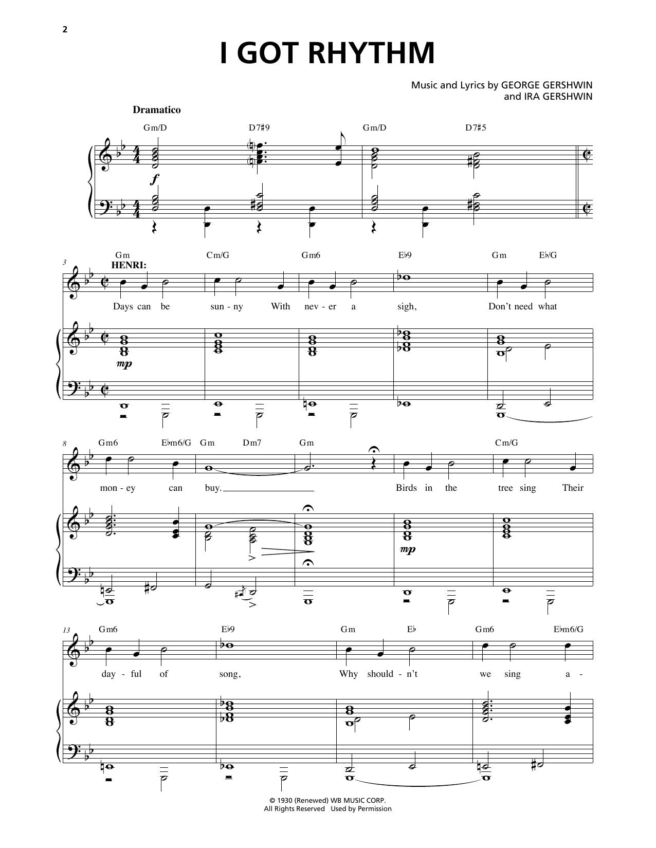 I Got Rhythm (from An American In Paris) Sheet Music