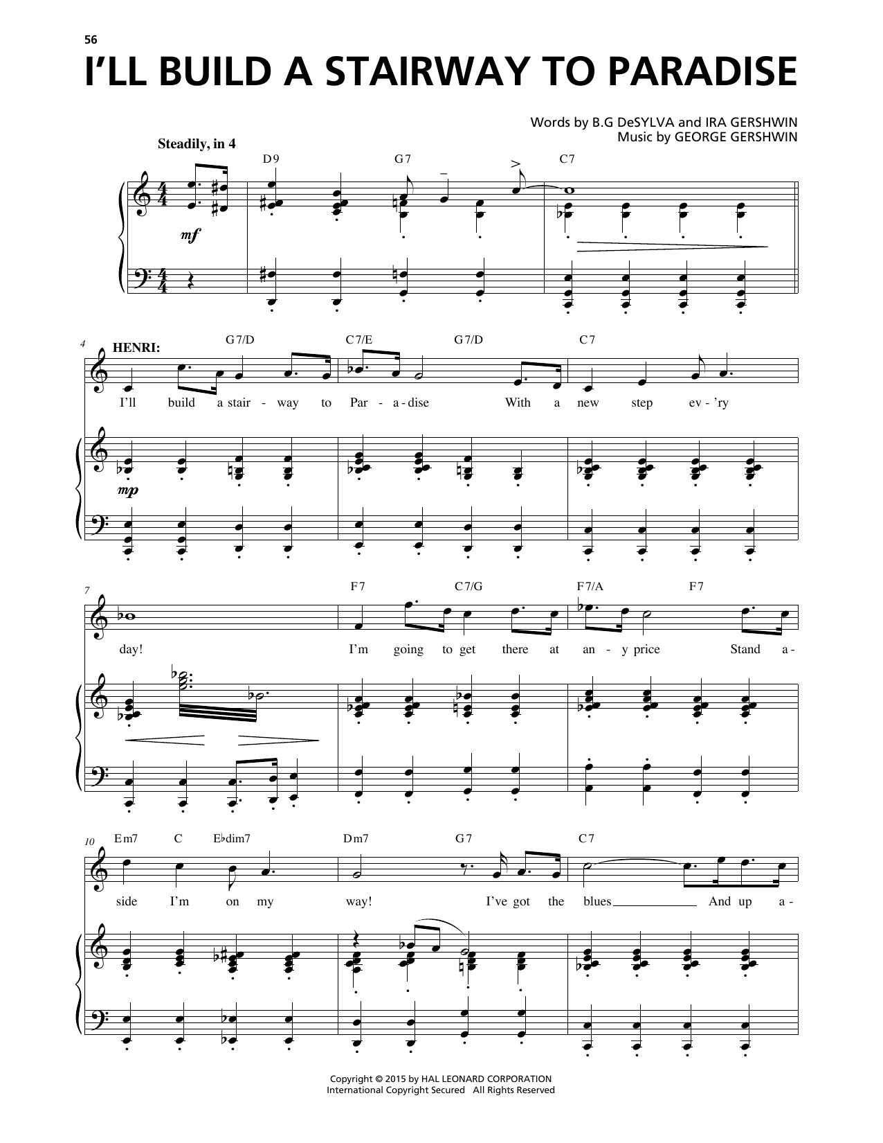 I'll Build A Stairway To Paradise (from An American In Paris) Sheet Music