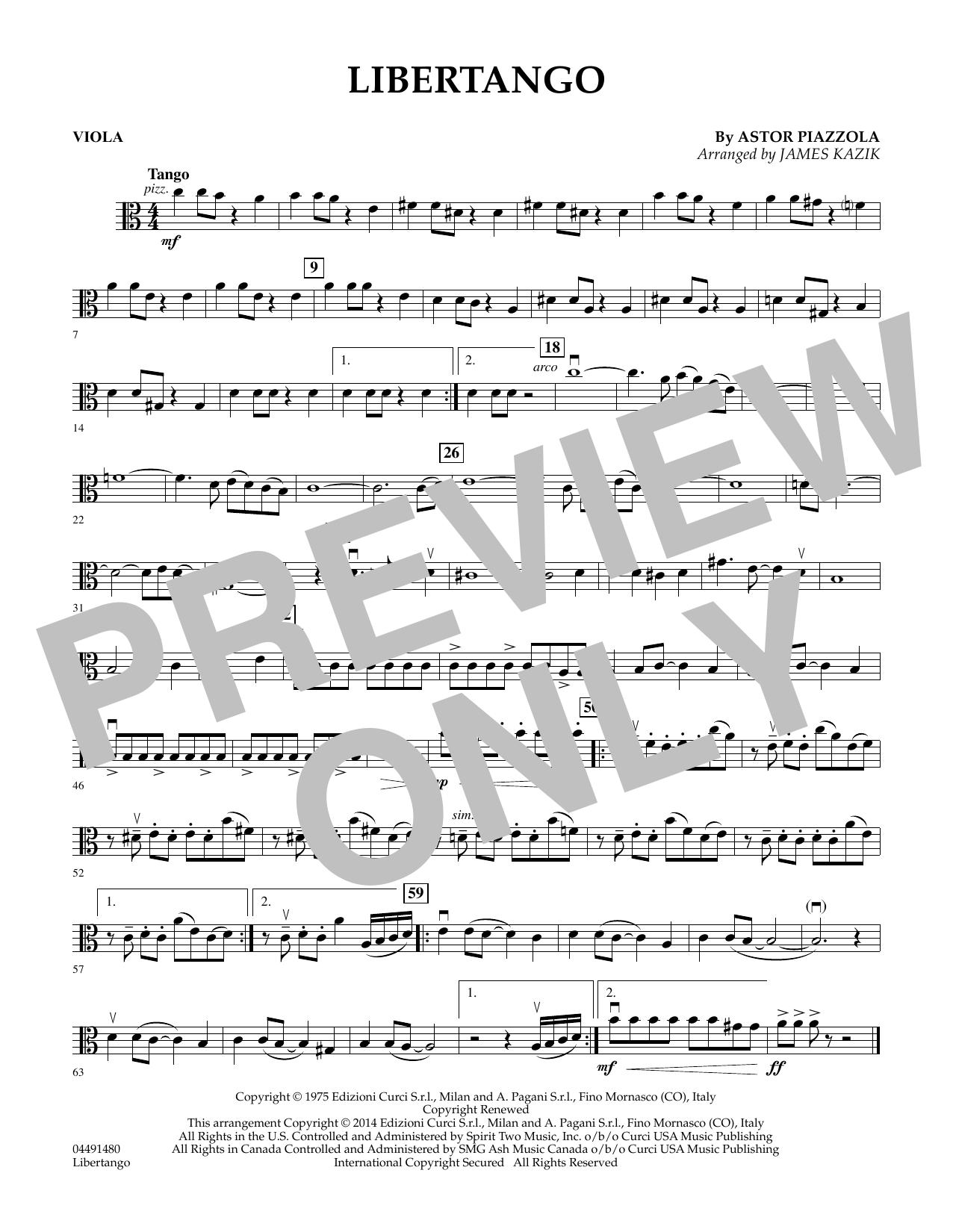Libertango - Viola (Orchestra)