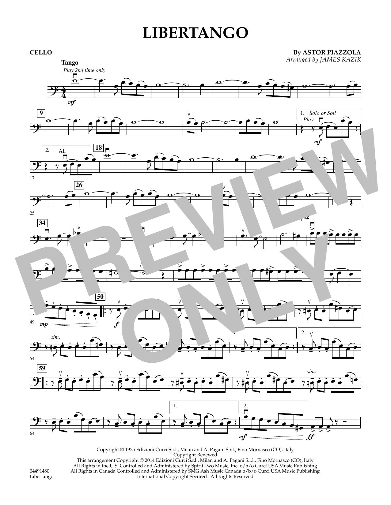 Libertango - Cello (Orchestra)