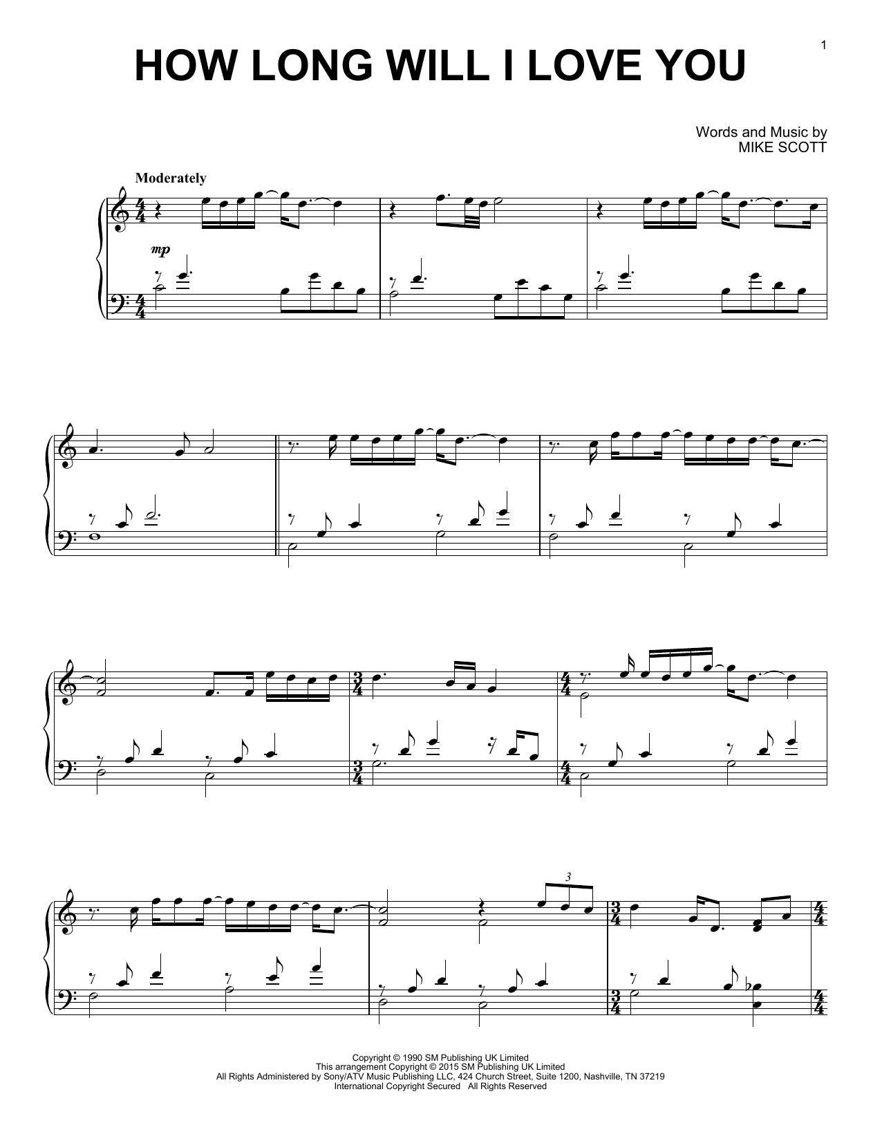 How Long Will I Love You Sheet Music