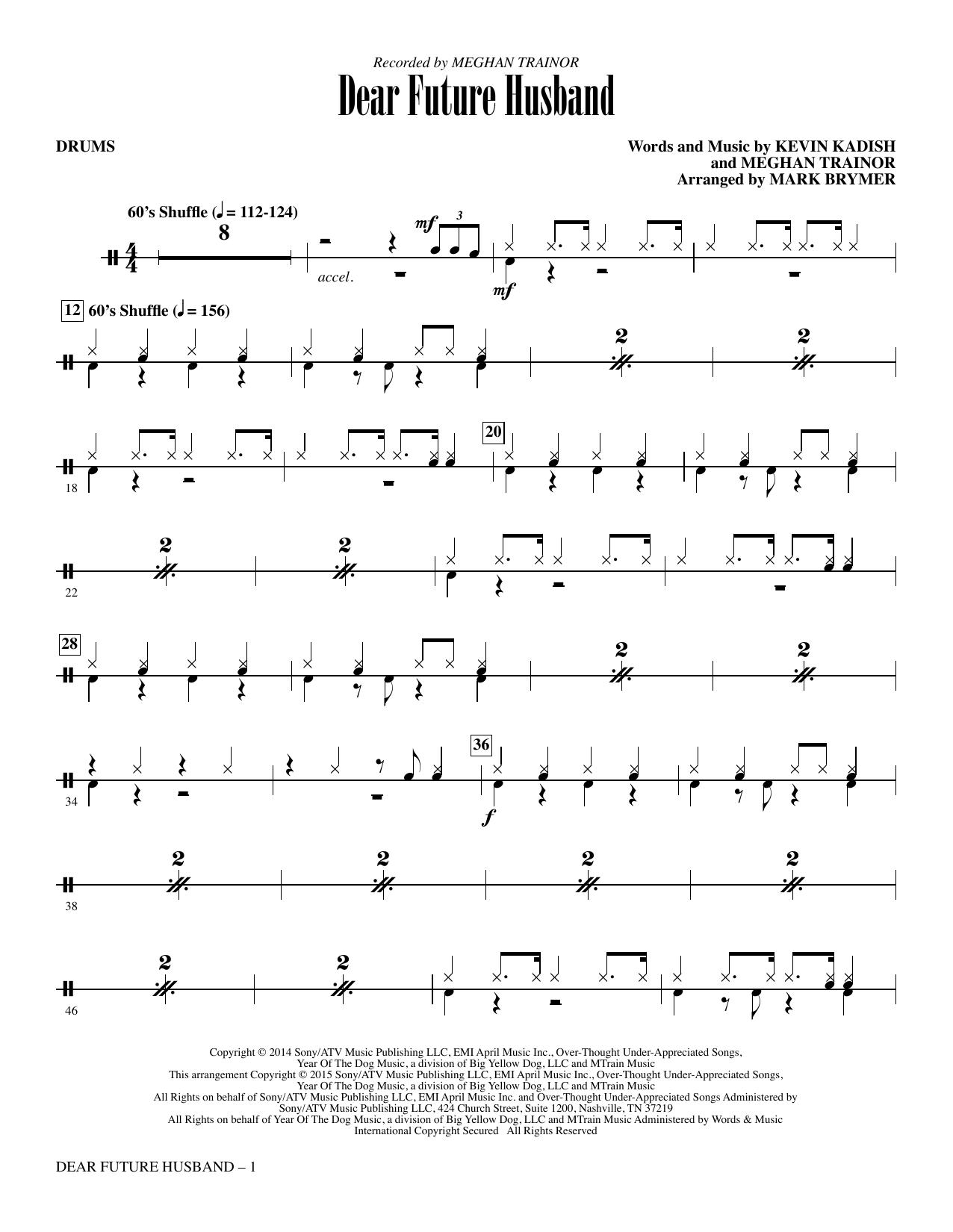 Dear Future Husband - Drum Set (Choir Instrumental Pak)