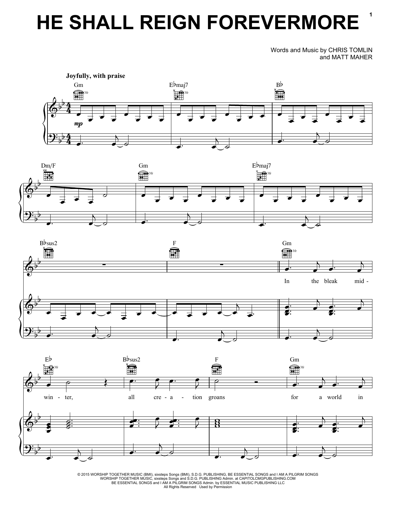 He Shall Reign Forevermore : Sheet Music Direct