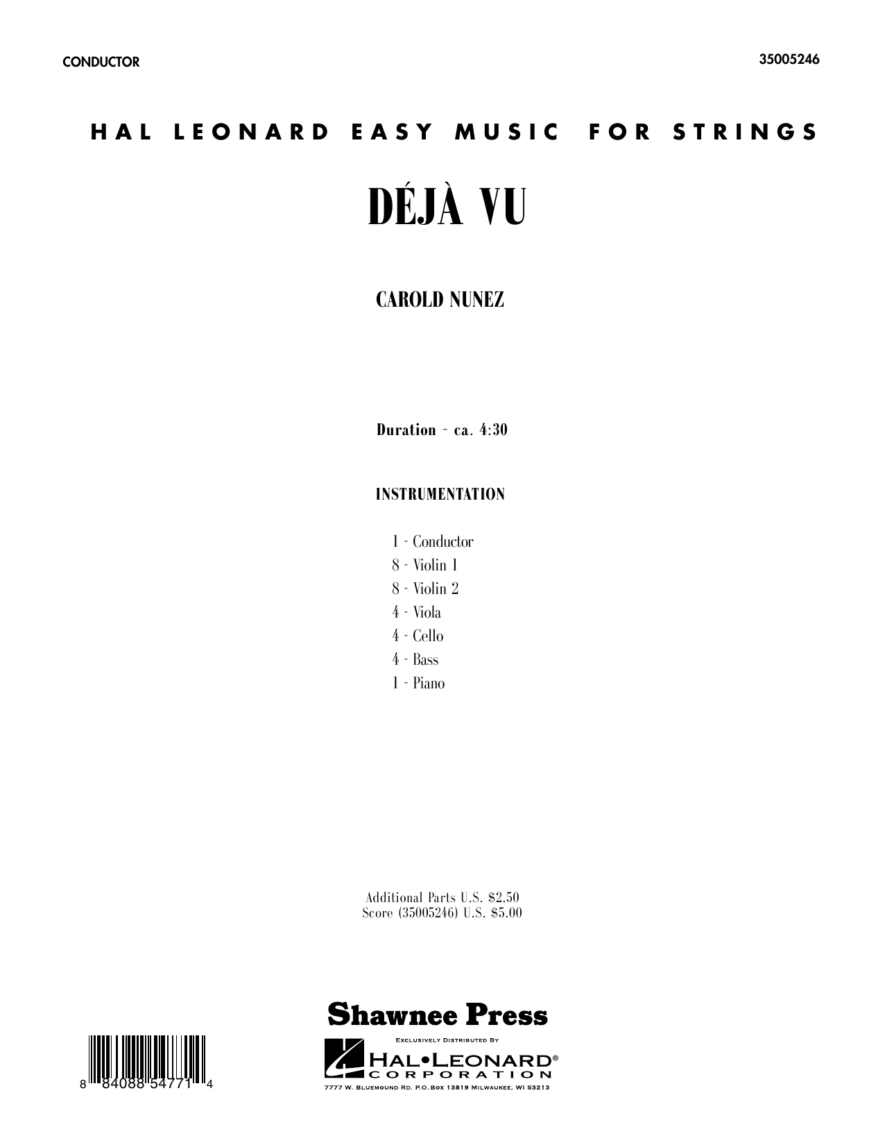 Deja Vu (COMPLETE) sheet music for orchestra by Carold Nunez. Score Image Preview.