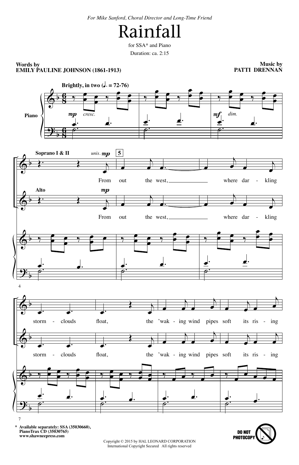 Rainfall Sheet Music