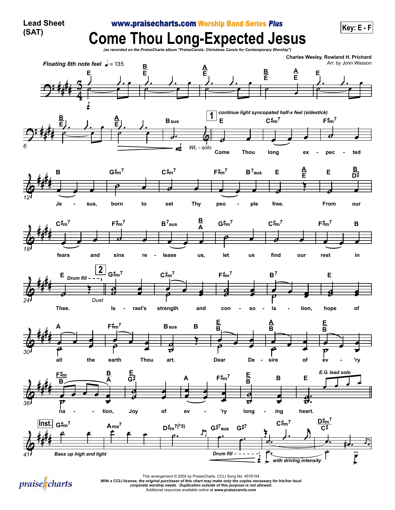Come Thou Long Expected Jesus Sheet Music