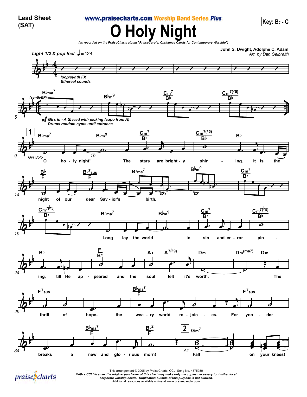 O Holy Night Sheet Music