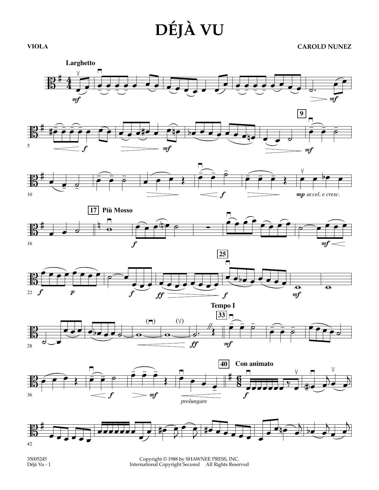 Deja Vu - Viola (Orchestra)