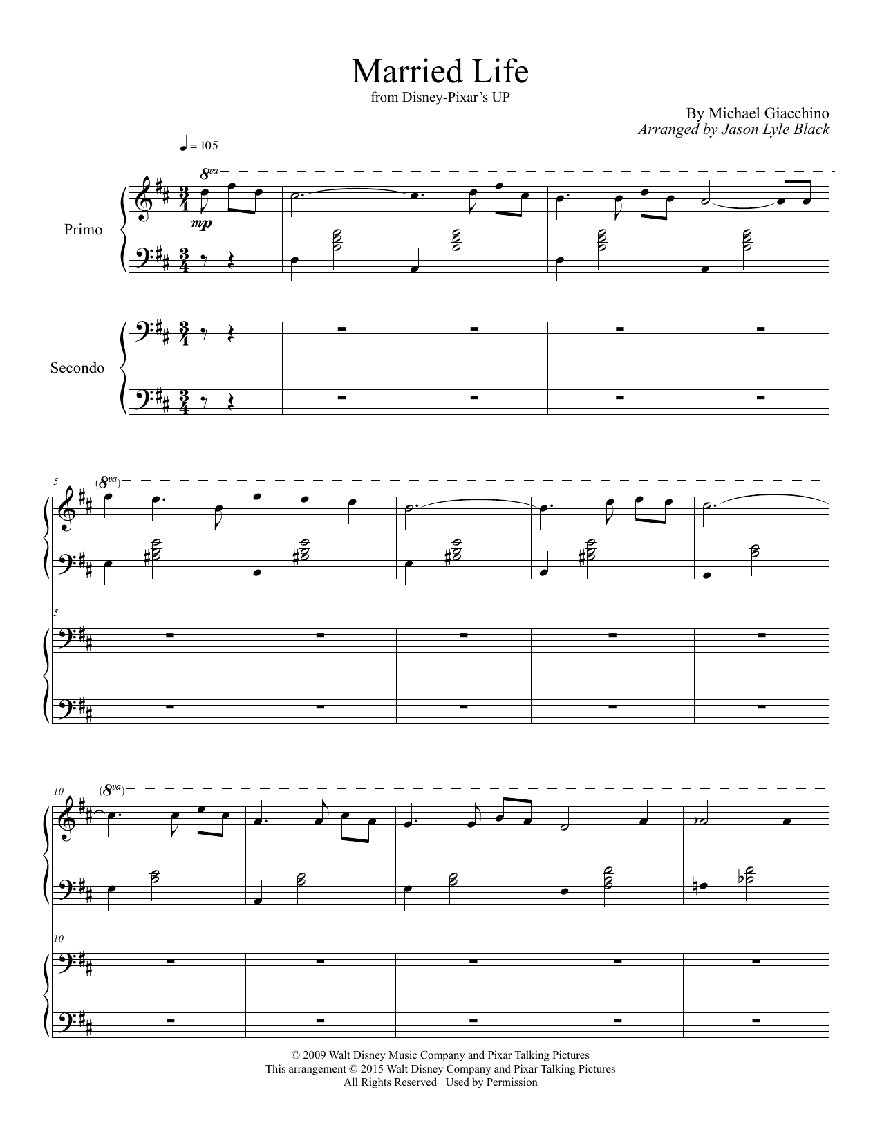 Married Life (arr. Jason Lyle Black) Sheet Music