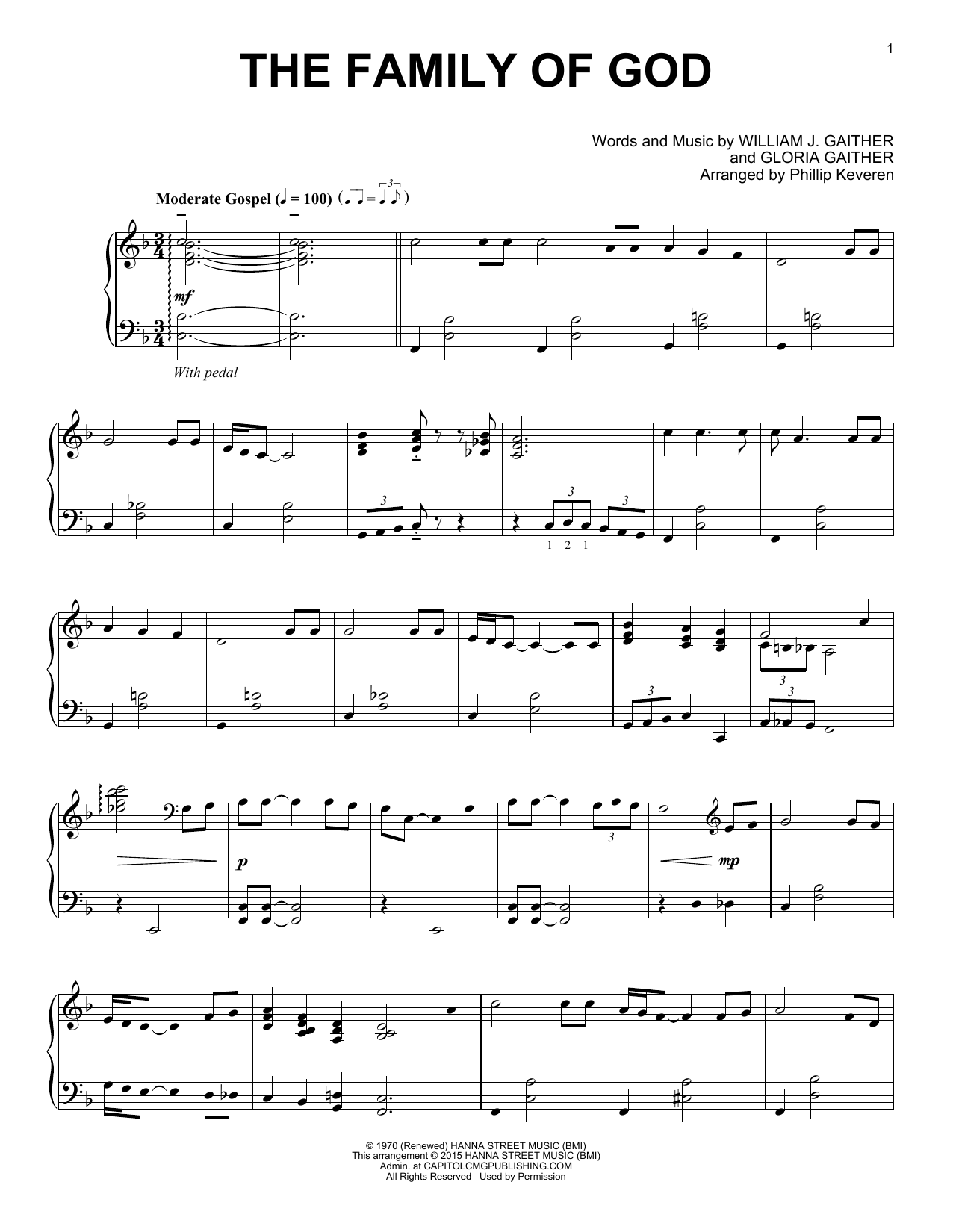The Family Of God Sheet Music