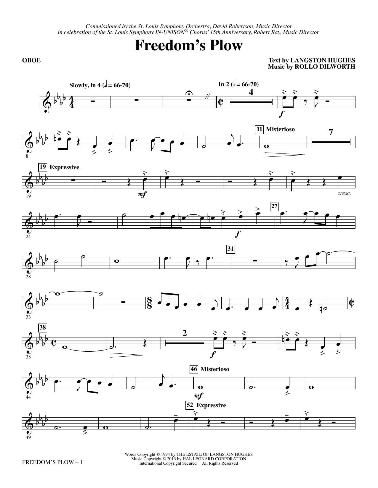 Freedom's Plow - Oboe (Choir Instrumental Pak)