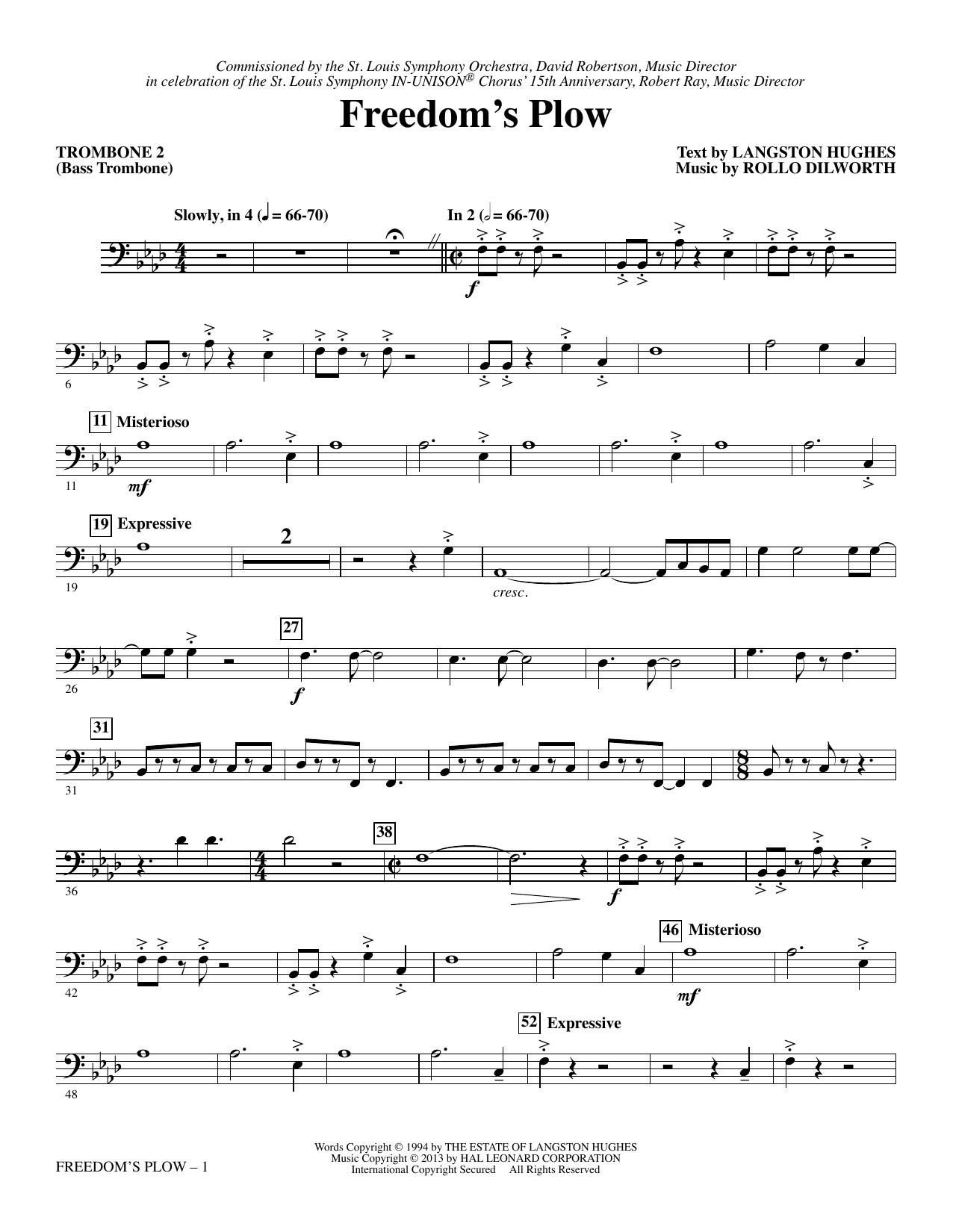 Freedom's Plow - Trombone 2 (Bass Trombone) Sheet Music